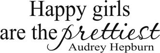 Napis 'Happy girls...'