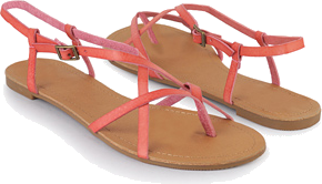 Crossed Thong Sandals