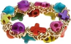 bransoletka w kolorowe czaszki