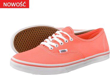 najlepsza strona internetowa wyprzedaż w sprzedaży najtańszy Neonowe łososiowe buty Vans | Faslook