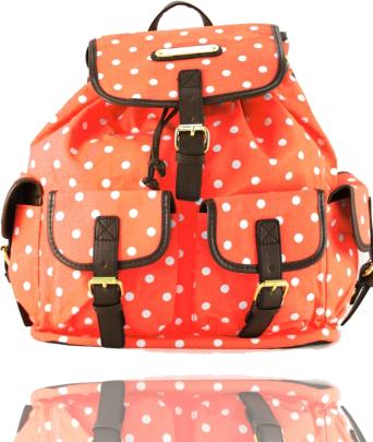Neonowy pomarańczowy plecak