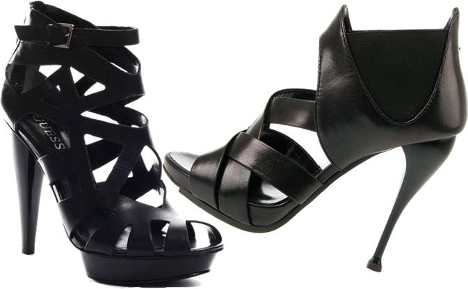 Czrne buty na obcasie
