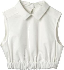 Krótka biała koszula