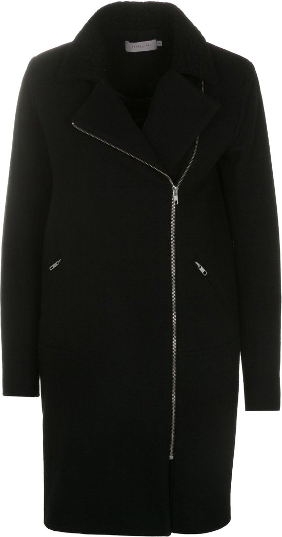 czarny płaszcz Zalando