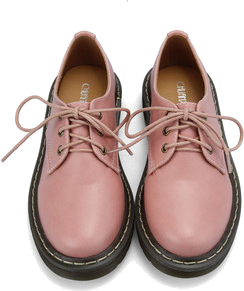 Retro Lace Up Flat Shoes in Pink