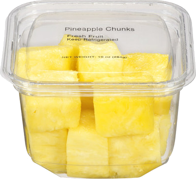 Walmart Pineapple Chunks, 10 oz