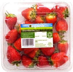 Tesco Organic Strawberries (300g) in Tesco