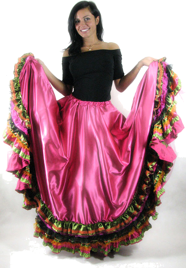 cygańska sukienka, różowa, czarna