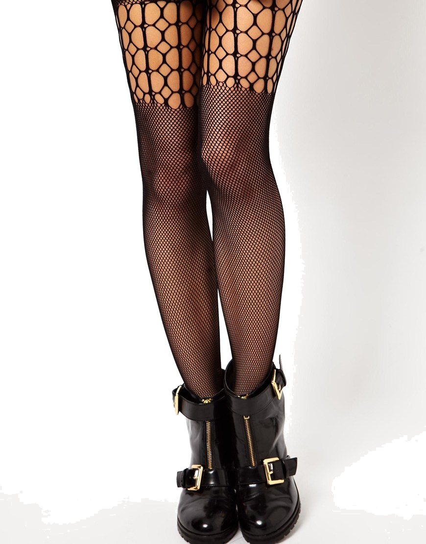 ASOS 50 Denier Fishnet Over The Knee Panel Tights