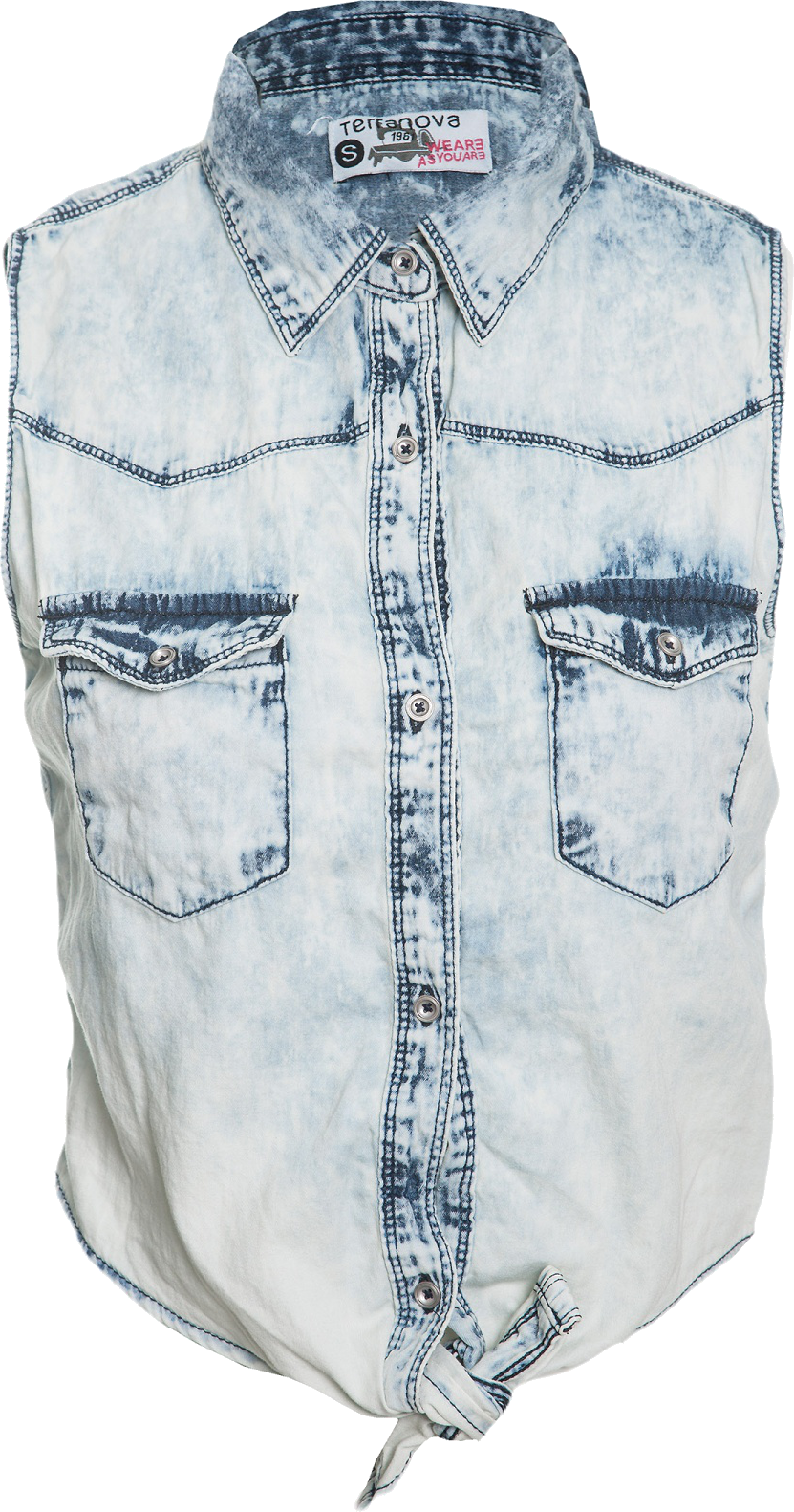 DENIM SHIRT WITH KNOT