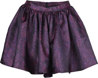 Retro Purple Puff Skirt