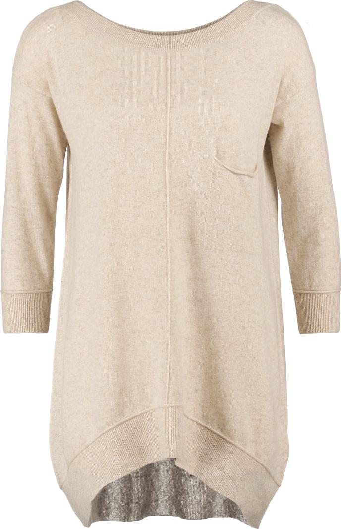 długi beżowy sweter <3