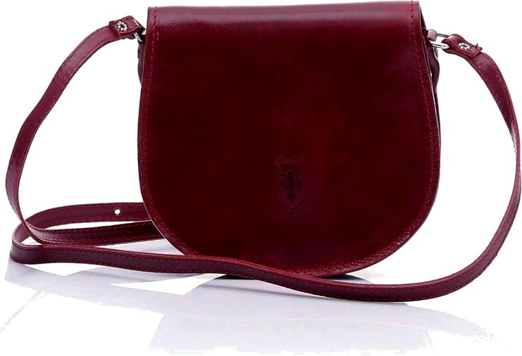 93dc764175cd1 Torebka listonoszka skórzana czerwona ciemna bordo VICENZA
