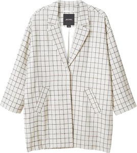 Monki Matilda checked coat