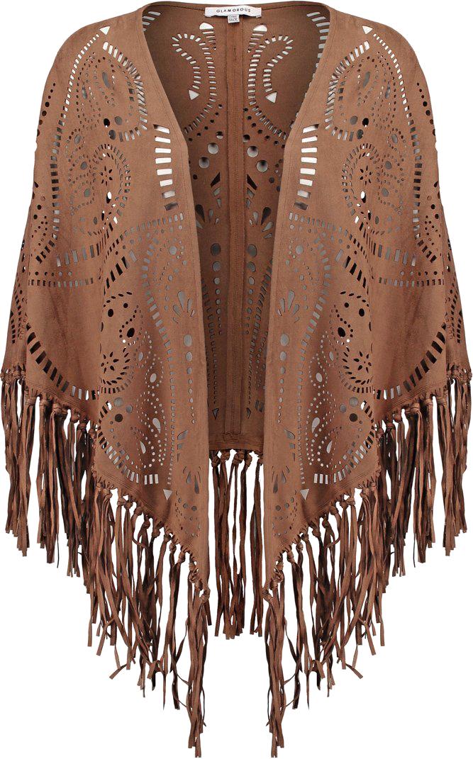 Glamorous Ponczo brown