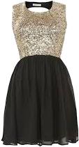 Czarno-złota sukienka