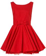 Czerwona rozklozowana sukienka