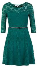 Koronkowa zielona sukienka
