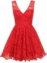 Sukienka koronką - czerwona