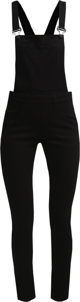 Cheap Monday DUNGAREE Ogrodniczki black