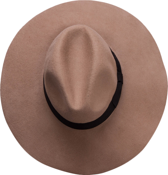 Wide Brim Felt Hat with Bowknot Band