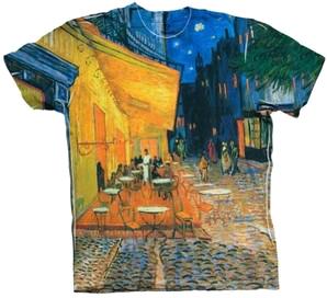 """""""Van Gogh Cafe Terrace, Place du (1888 Crew Neck T-Shirt"""