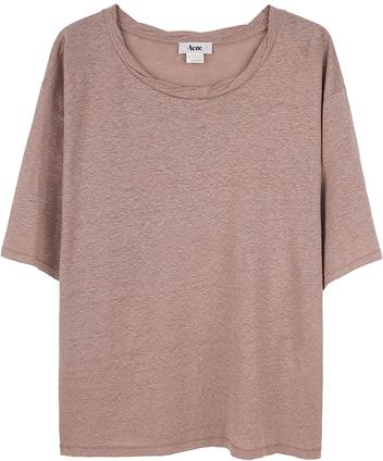 Acne Wonder Linen T-Shirt