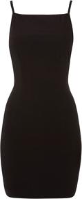 Cassie Black Strappy Back Mini Dress