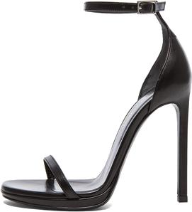 Saint Laurent Jane Leather Ankle Strap Sandals