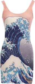 Big Wave Bodycon Dress