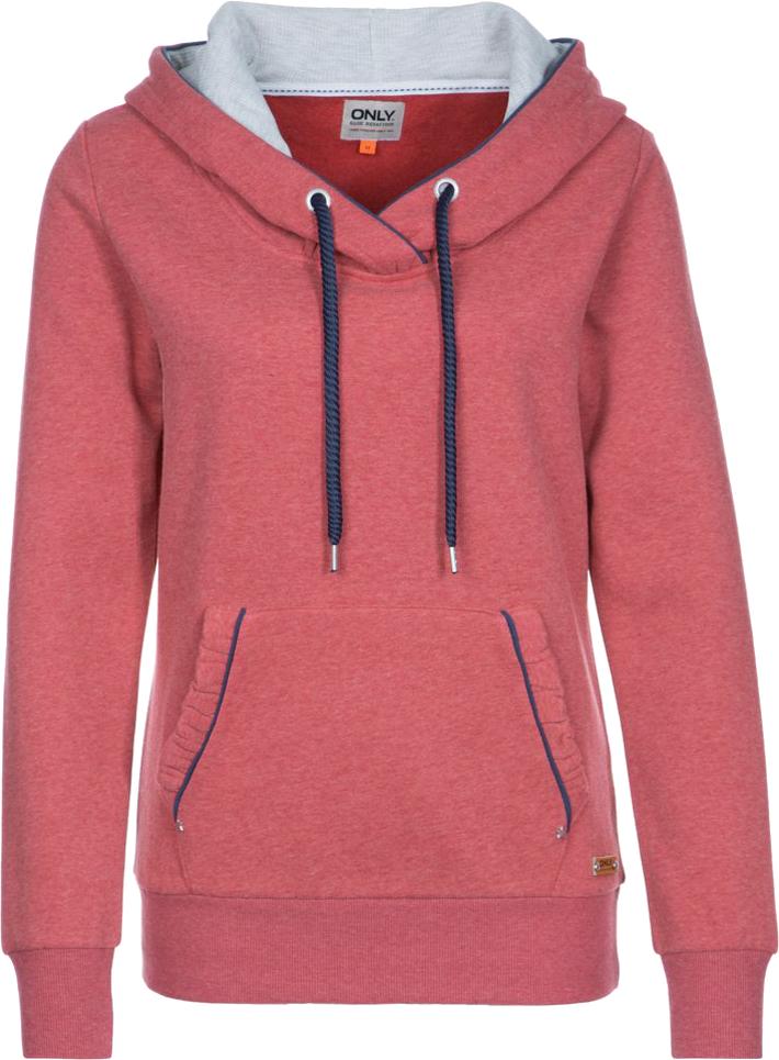 ONLY ALINA Bluza z kapturem czerwony
