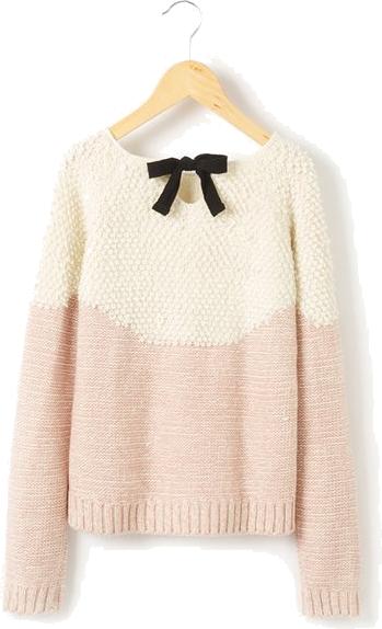 Dwukolorowy sweter z długim rękawem dla nastolatek