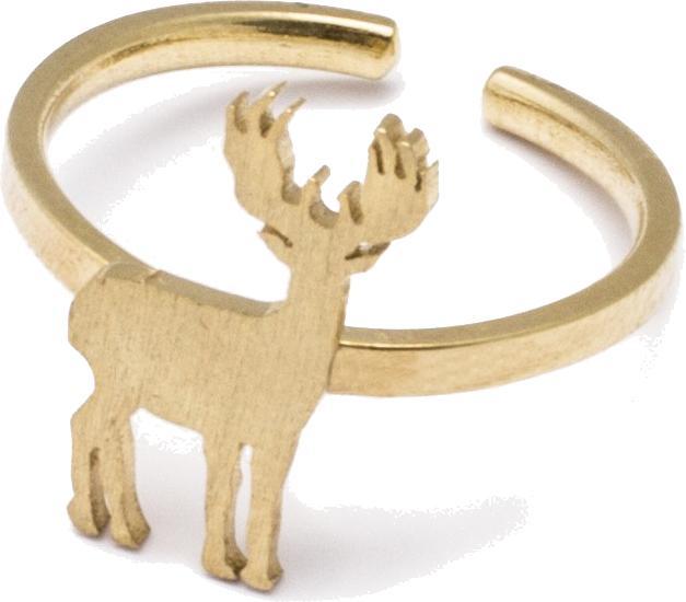 Pierścionek AK Petite Natale z reniferem