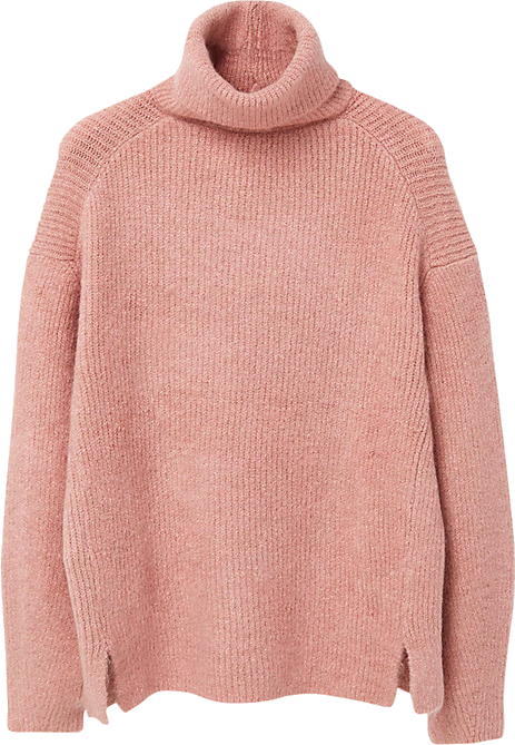 Mango Turtle Neck Jumper, Bubblegum Pink