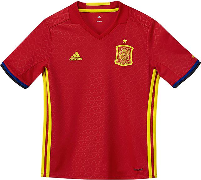 T-shirt Hiszpania UEFA 2016, 7 - 16 lat