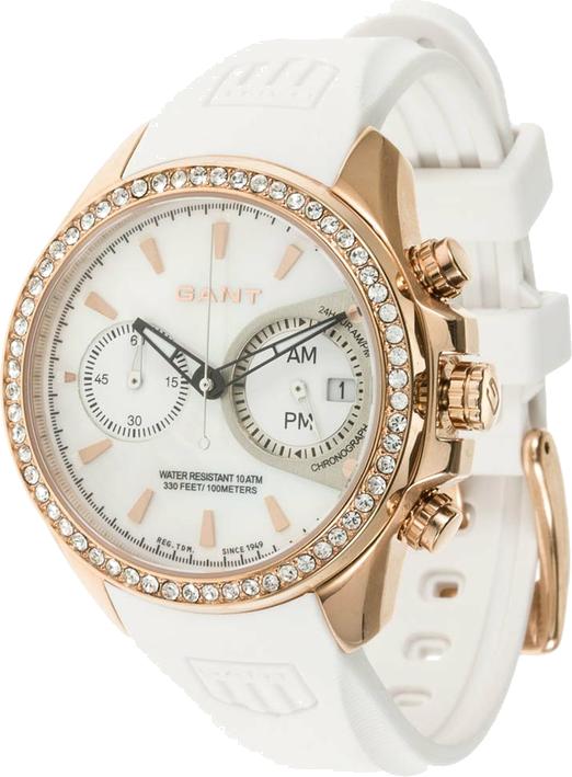 GANT BEDSTONE W10652 Zegarek chronograficzny weiß/roségoldfarben