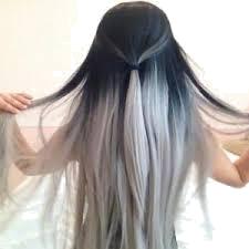 włosy szare ombre