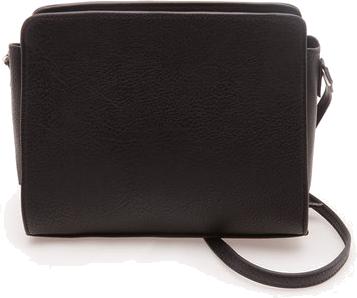 mini torebka satchel czarny