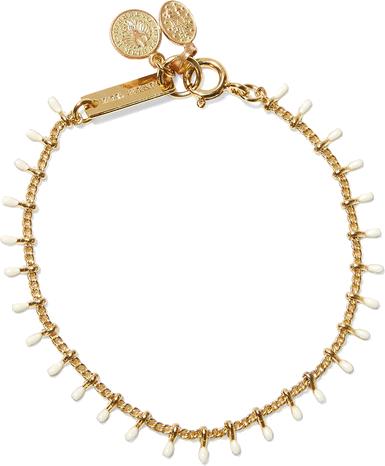 Casablanca gold-tone resin bracelet