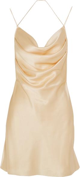 Saint Laurent Silk-satin mini dress