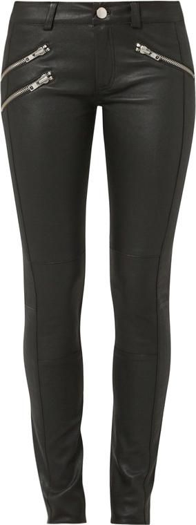 Gestuz ARIN Spodnie skórzane czarny