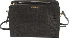 Black Leather Handbag CALVIN KLEIN