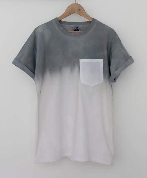 koszulka szaro-biała