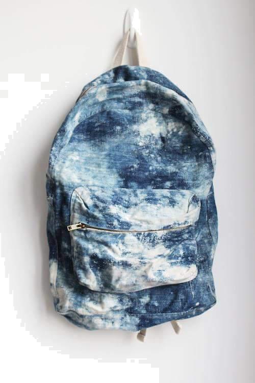 plecak biało-niebieski