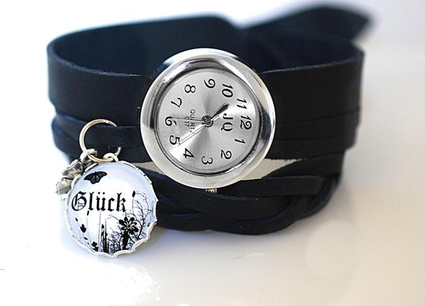 Szczęście  Skórzany zegarek