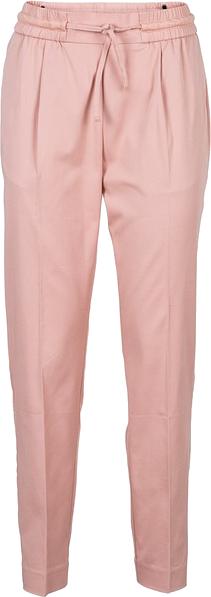 Spodnie z zakładkami w talii, ze stretchem bonprix stary jasnoróżowy