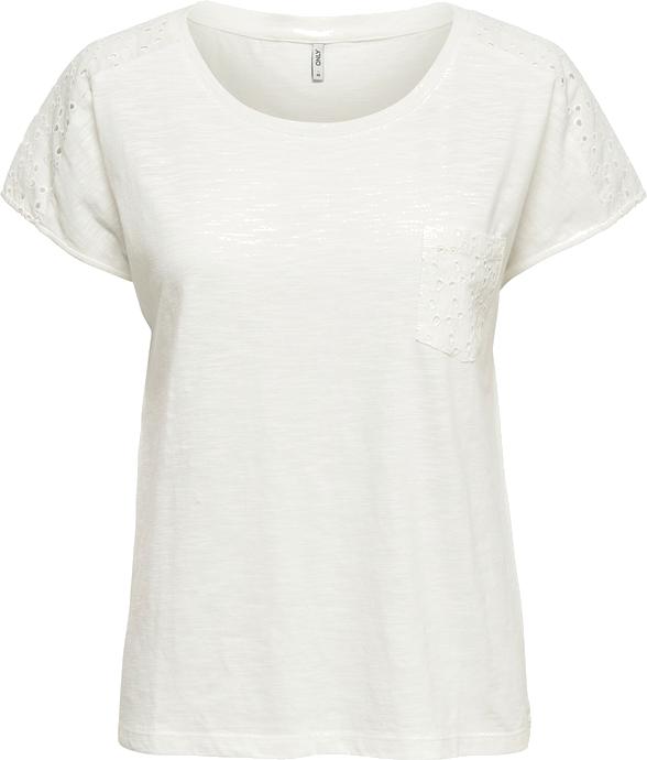 T-shirt z krótkim rękawem, okrągły dekolt