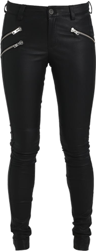 Gestuz ARIN PANTS Spodnie skórzane black