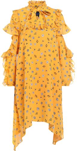 Steve J & Yoni P / SJYP FLOWER PRINTED DRESS Sukienka koszulowa yellow