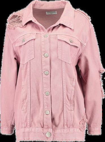 Glamorous Kurtka jeansowa dusty pink
